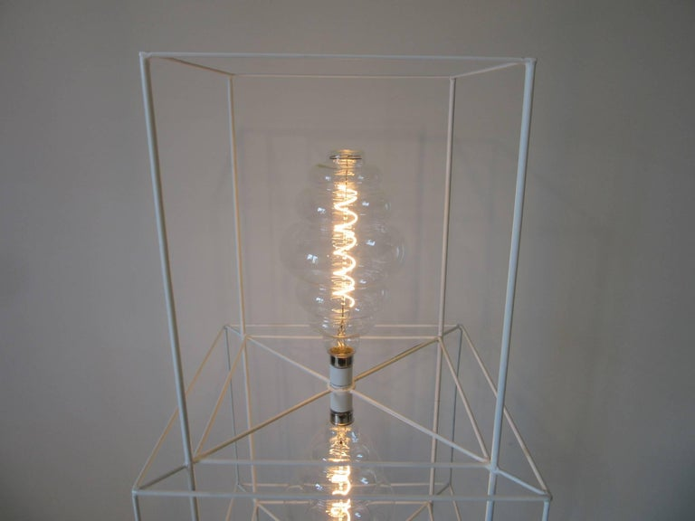 American Sculptural Midcentury Floor Lamp in the Style of Frederick Weinberg For Sale