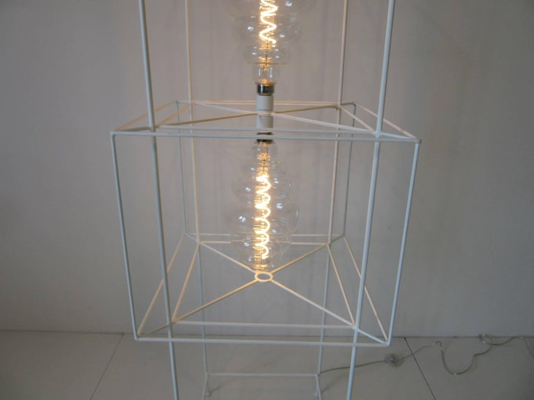 Sculptural Midcentury Floor Lamp in the Style of Frederick Weinberg In Excellent Condition For Sale In Cincinnati, OH