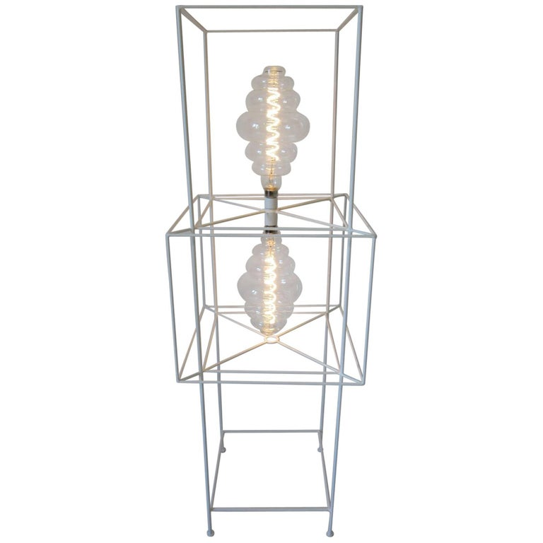 Sculptural Midcentury Floor Lamp in the Style of Frederick Weinberg For Sale