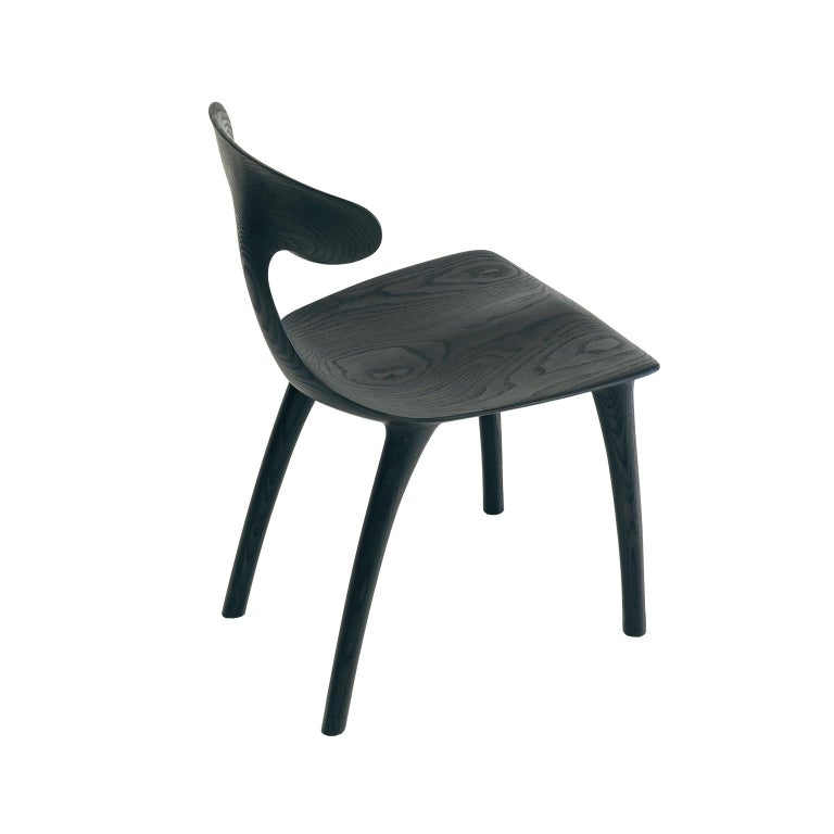Sculptural Miranda Chair in Blackened Ash by Matthew Sellens of SylvanRay In New Condition For Sale In Oakland, CA