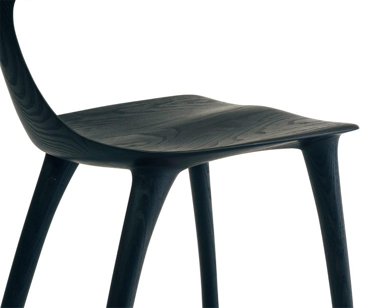 Contemporary Sculptural Miranda Chair in Blackened Ash by Matthew Sellens of SylvanRay For Sale