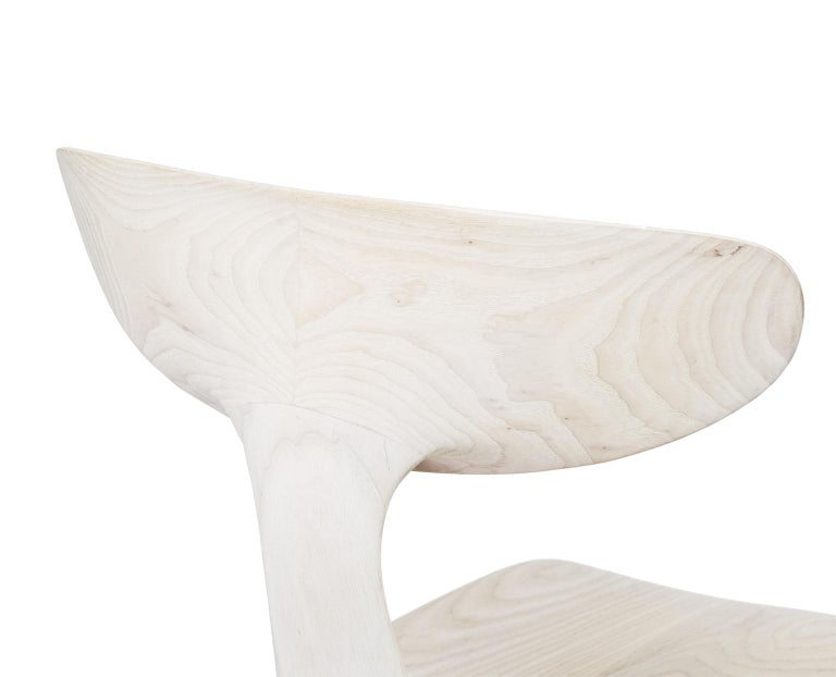 American Sculptural Miranda Chair in Bleached Ash by Matthew Sellens of SylvanRay For Sale