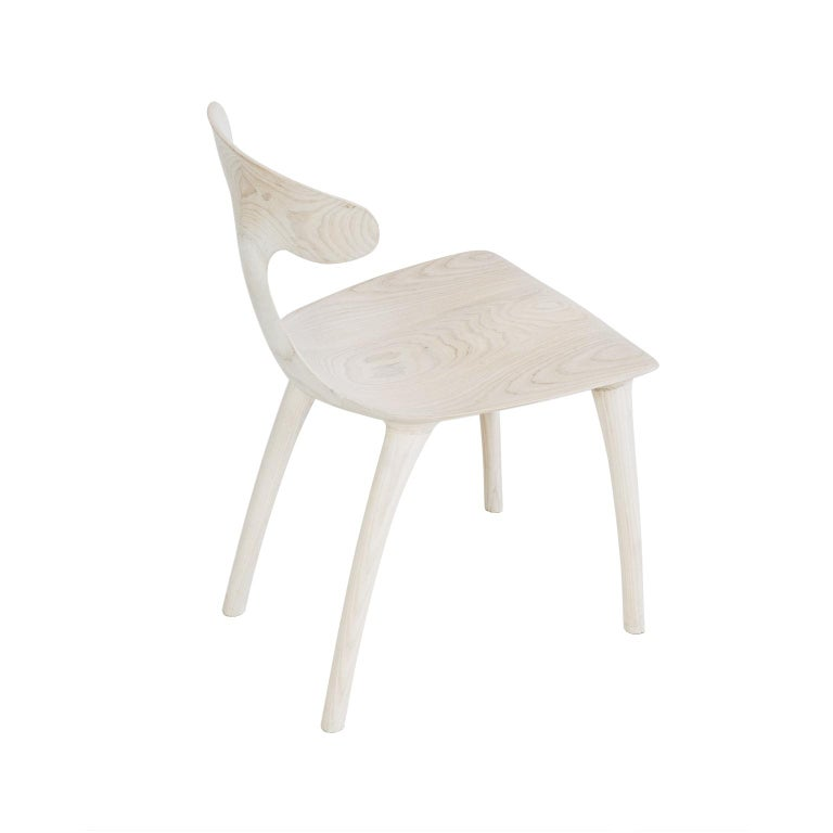 Sculptural Miranda Chair in Bleached Ash by Matthew Sellens of SylvanRay In New Condition For Sale In Oakland, CA