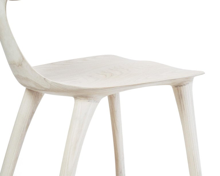 Contemporary Sculptural Miranda Chair in Bleached Ash by Matthew Sellens of SylvanRay For Sale