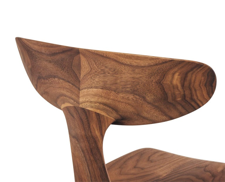 The Miranda chair began as a prototype conceived of and hand carved by Matthew Sellens of SylvanRay. Based in Bend, Oregon, Matthew's designs are often inspired by the natural forms found in the surrounding landscape. The basic concept underlying