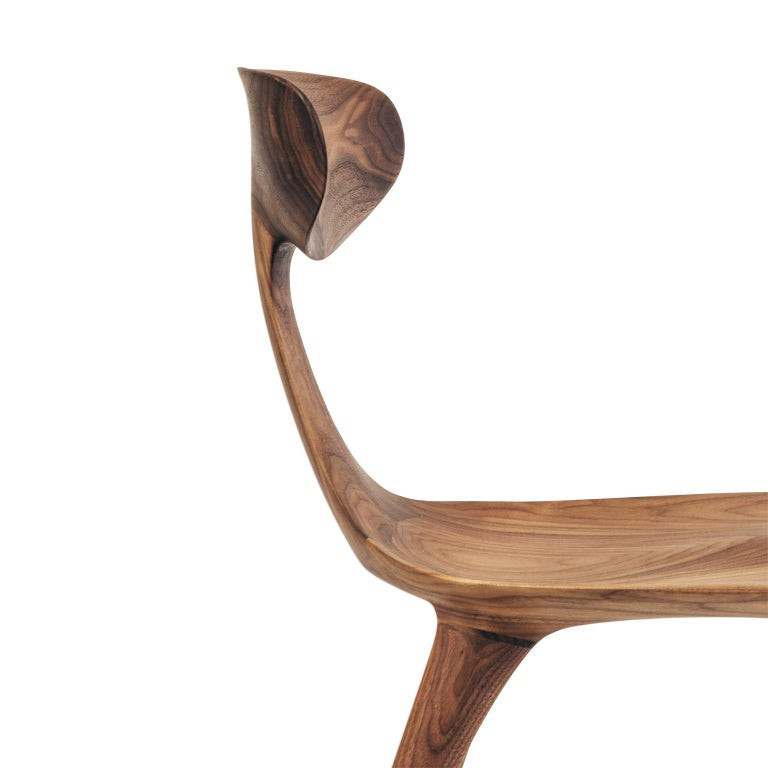 American Sculptural Miranda Chair in Walnut by Matthew Sellens of SylvanRay For Sale