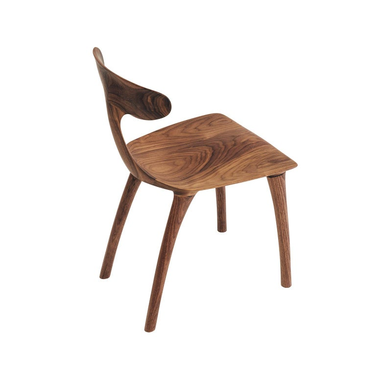 Sculptural Miranda Chair in Walnut by Matthew Sellens of SylvanRay In New Condition For Sale In Oakland, CA