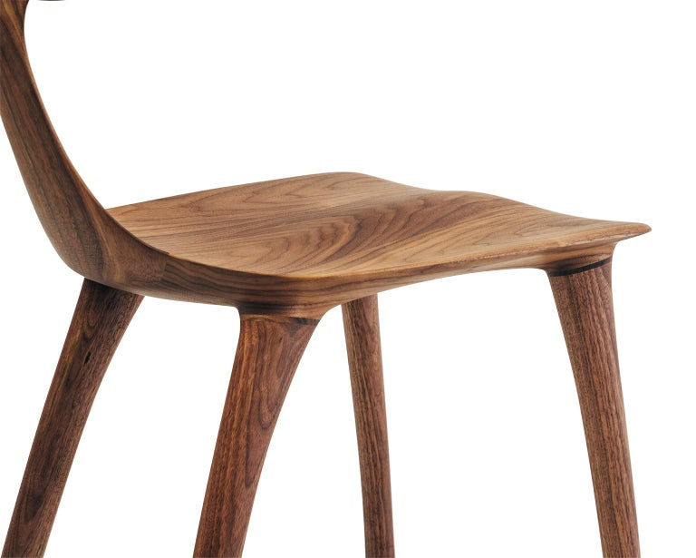 Contemporary Sculptural Miranda Chair in Walnut by Matthew Sellens of SylvanRay For Sale