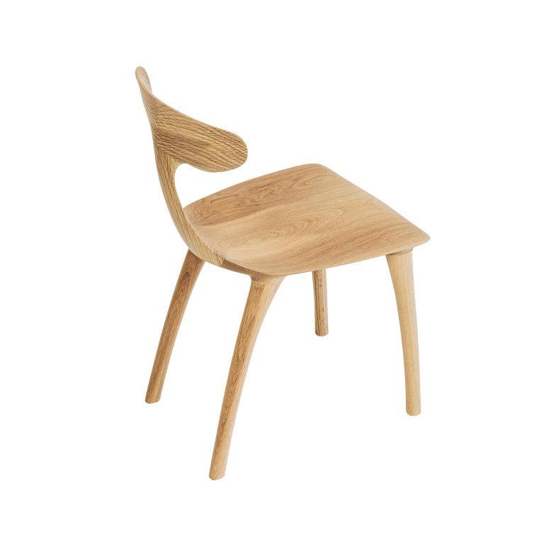 American Sculptural Miranda Chair in White Oak by Matthew Sellens of SylvanRay For Sale