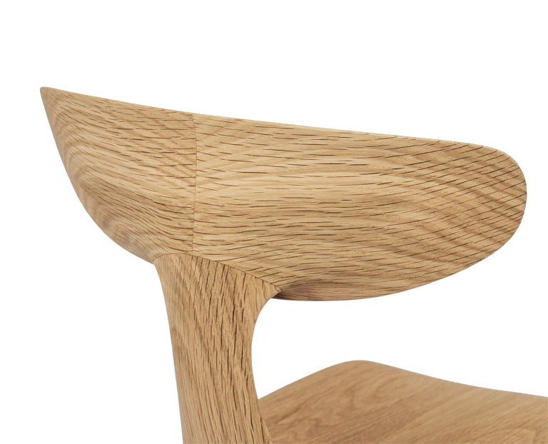 Sculptural Miranda Chair in White Oak by Matthew Sellens of SylvanRay In New Condition For Sale In Oakland, CA