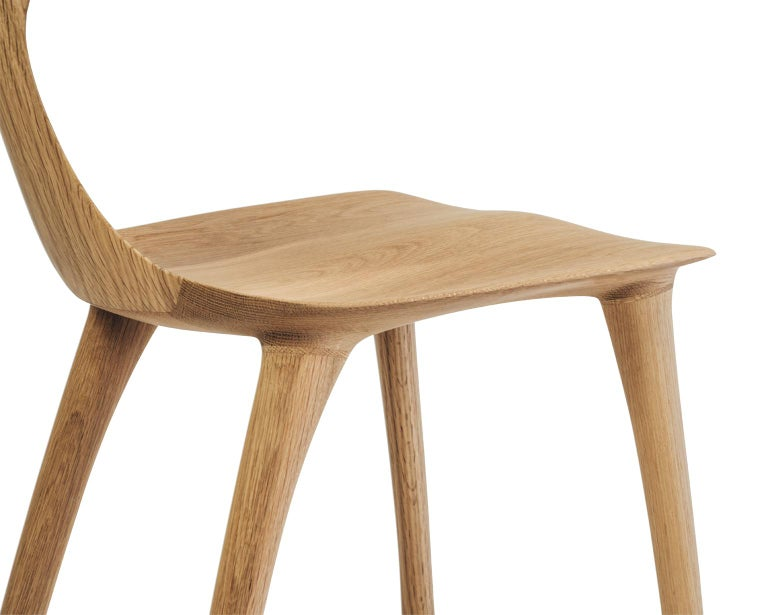 Contemporary Sculptural Miranda Chair in White Oak by Matthew Sellens of SylvanRay For Sale
