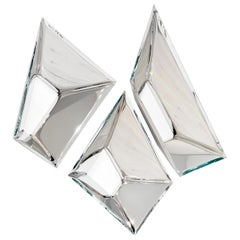 Sculptural Mirrors 'the Crystals' in Stainless Steel by Zieta Prozessdesign '3'