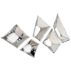 Sculptural Mirrors 'The Crystals' in Stainless Steel by Zieta Prozessdesign '5'