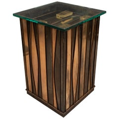 Sculptural Mixed Metal Side Table