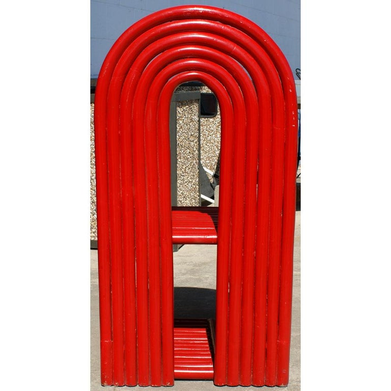 North American Sculptural Modern Art Red Chair For Sale