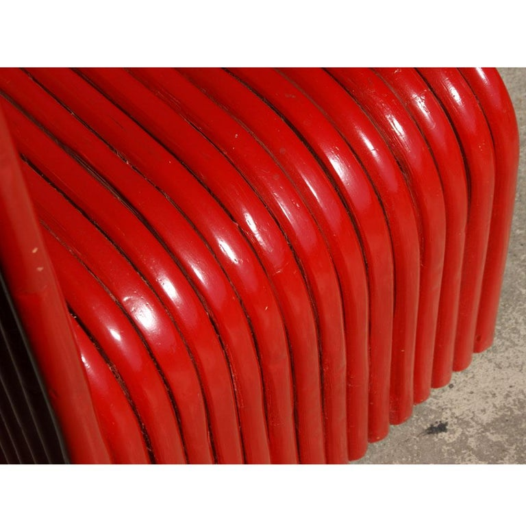 Late 20th Century Sculptural Modern Art Red Chair For Sale