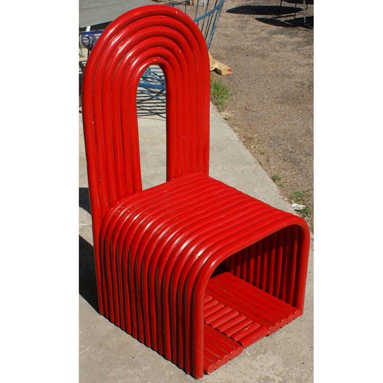 Sculptural Modern Art Red Chair For Sale 1
