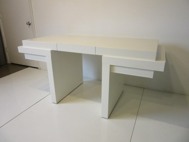 Sculptural Modern Pedestal Desk in the Style of Steve Chase For Sale 4