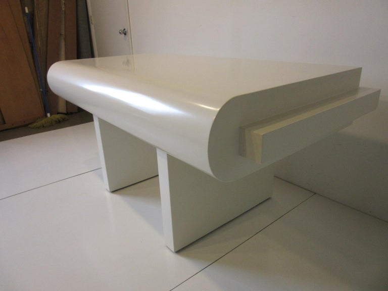 Sculptural Modern Pedestal Desk in the Style of Steve Chase For Sale 5