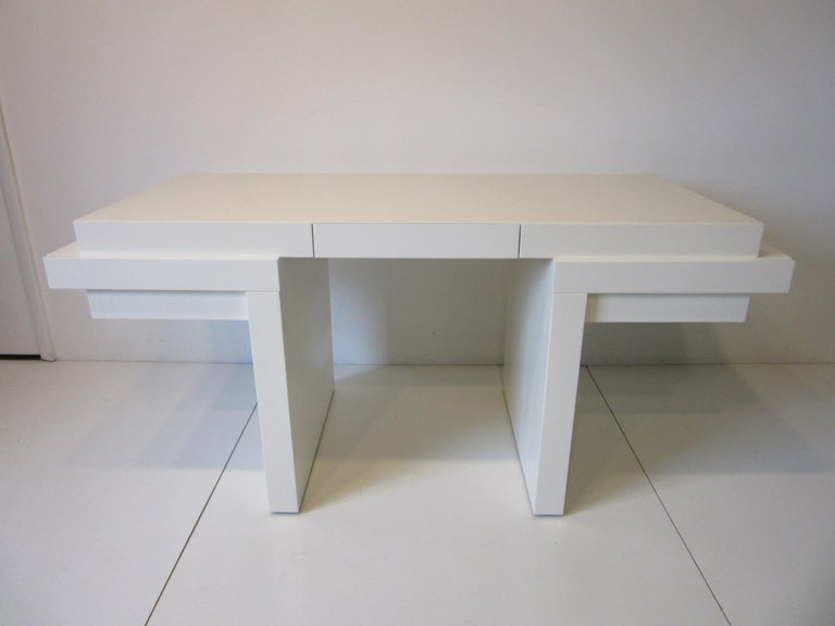 Sculptural Modern Pedestal Desk in the Style of Steve Chase For Sale 6