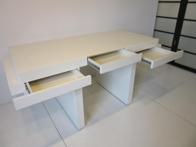 Wood Sculptural Modern Pedestal Desk in the Style of Steve Chase For Sale
