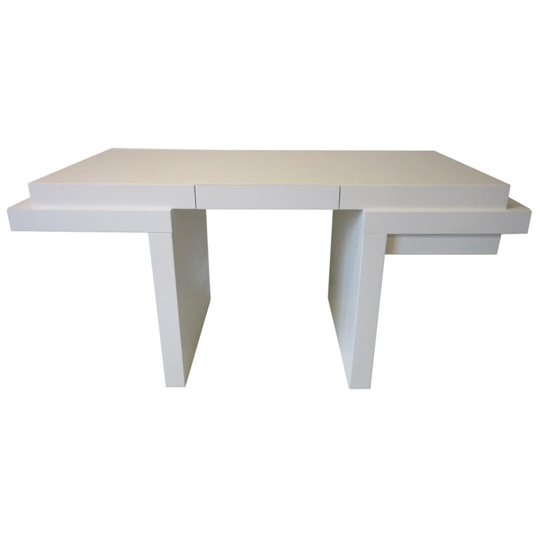 Sculptural Modern Pedestal Desk in the Style of Steve Chase For Sale