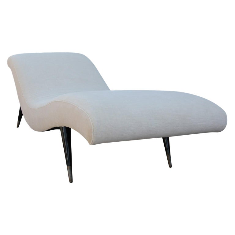 Sculptural Modern Chaise Lounge For Sale