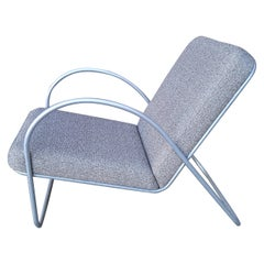 Sculptural Modernist Aluminum Chair Attributed to Richard Neutra for JA Bozung