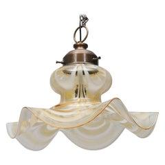 Sculptural Murano Glass Pendant