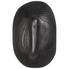 Sculptural Organic Hand Carved Charred Ash Sconce by Casey McCafferty