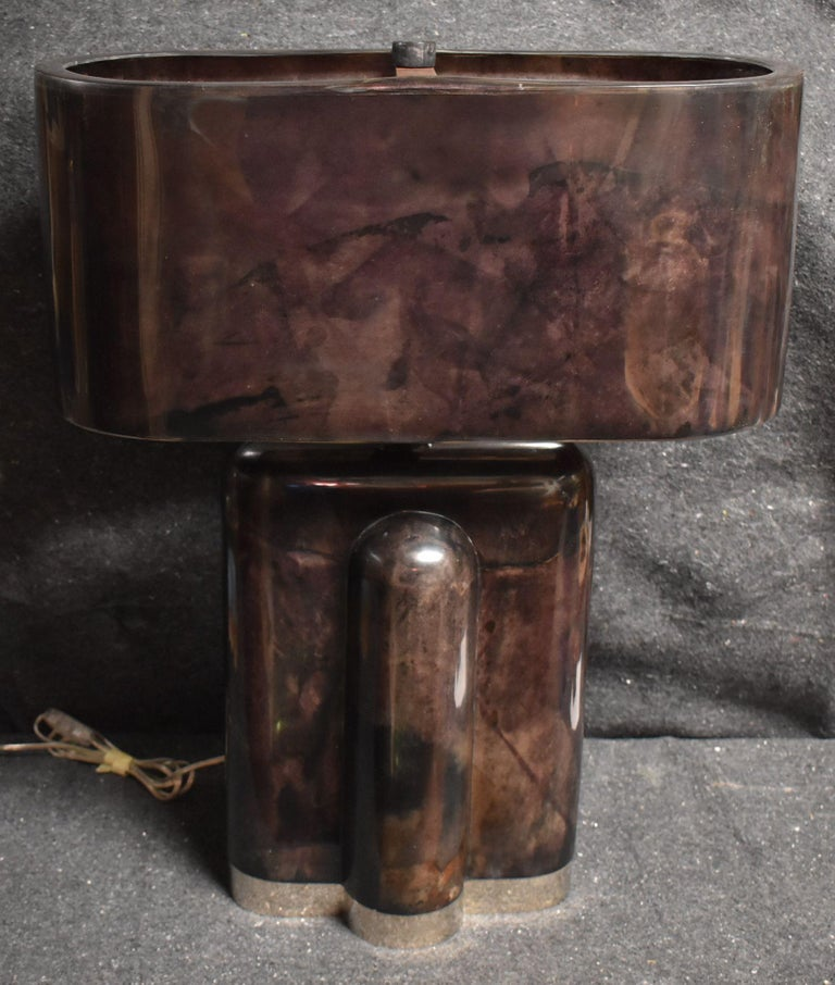 Mid-Century Modern Sculptural Parchment Table Lamp For Sale