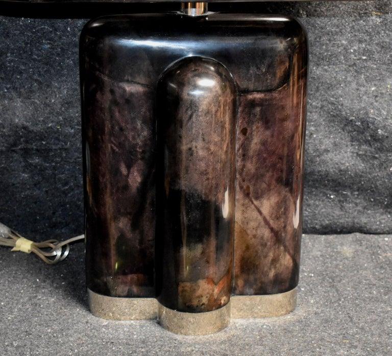 American Sculptural Parchment Table Lamp For Sale