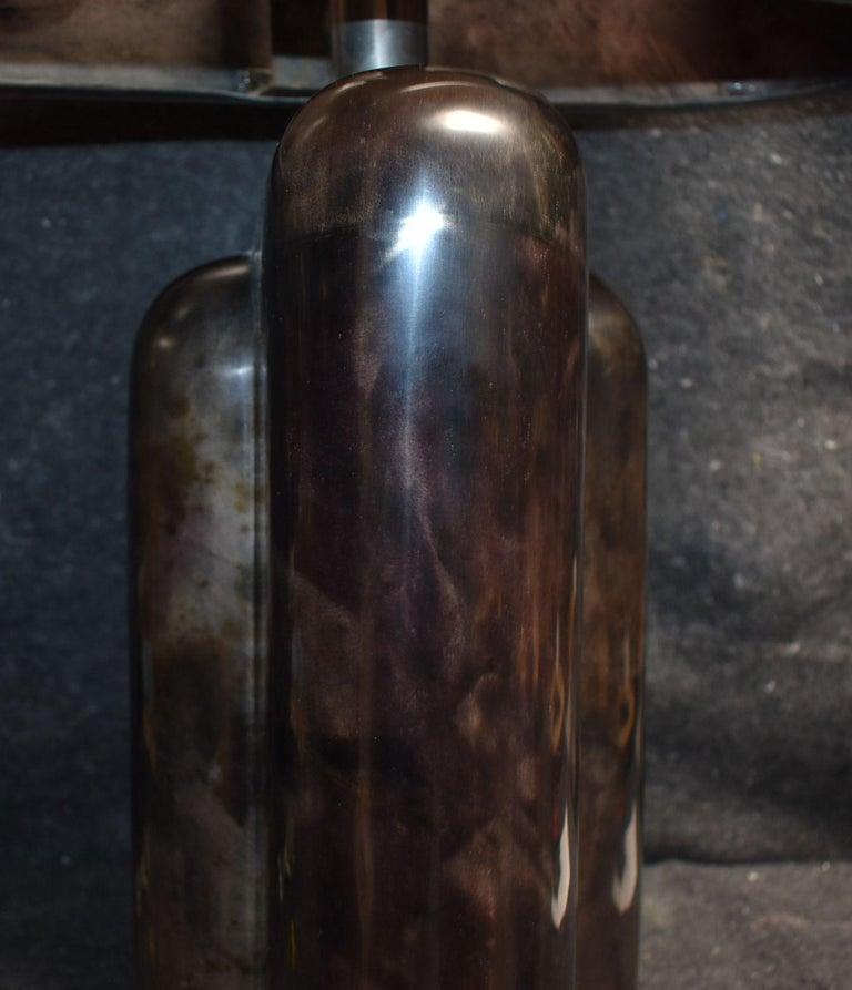 Contemporary Sculptural Parchment Table Lamp For Sale