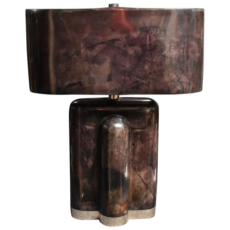 Sculptural Parchment Table Lamp For Sale