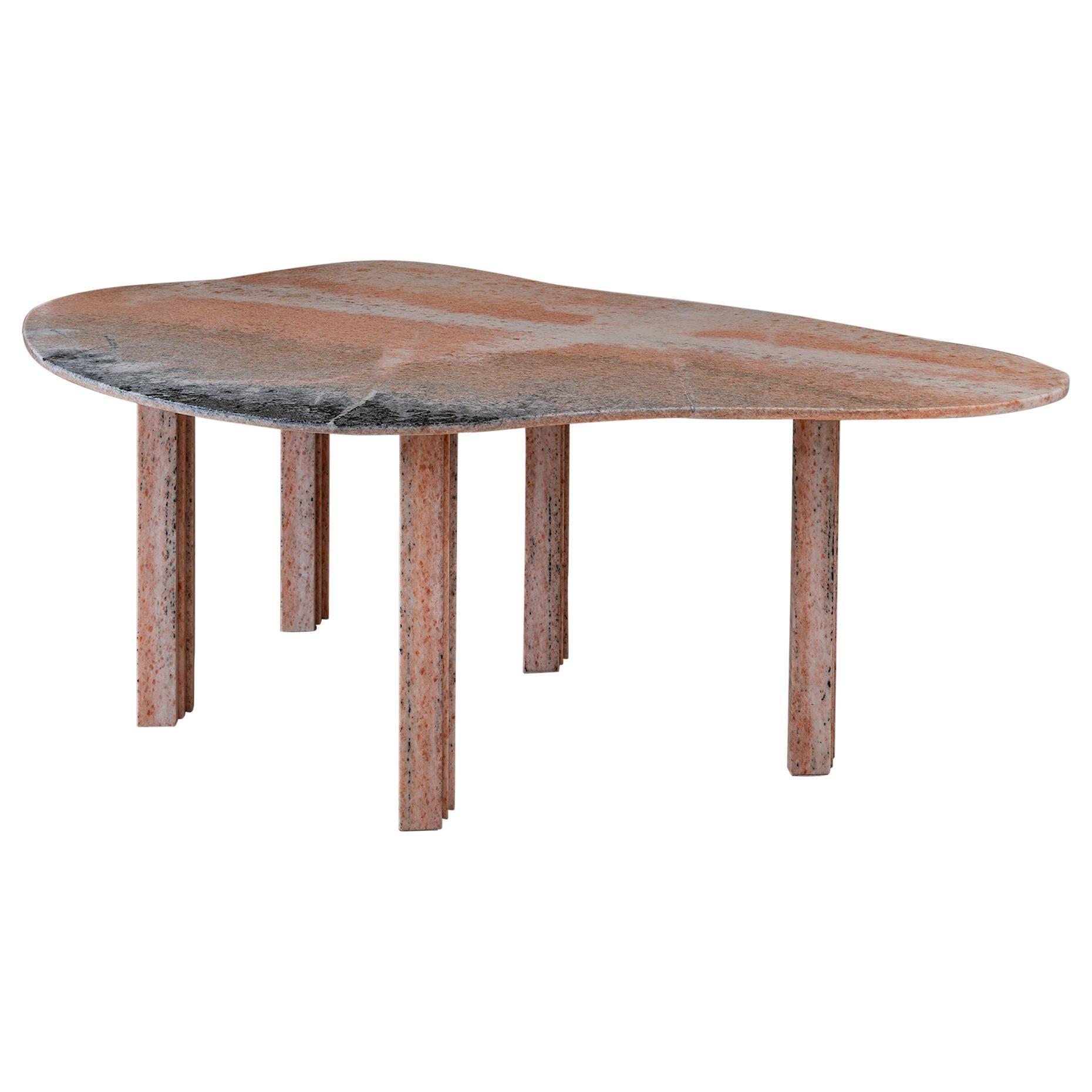 Sculptural Pear Marble Coffee Table, Lorenzo Bini