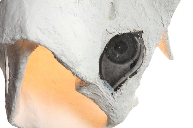 White Plaster Sculptural Pendant Chandelier, 21st Century by Mattia Biagi For Sale 6