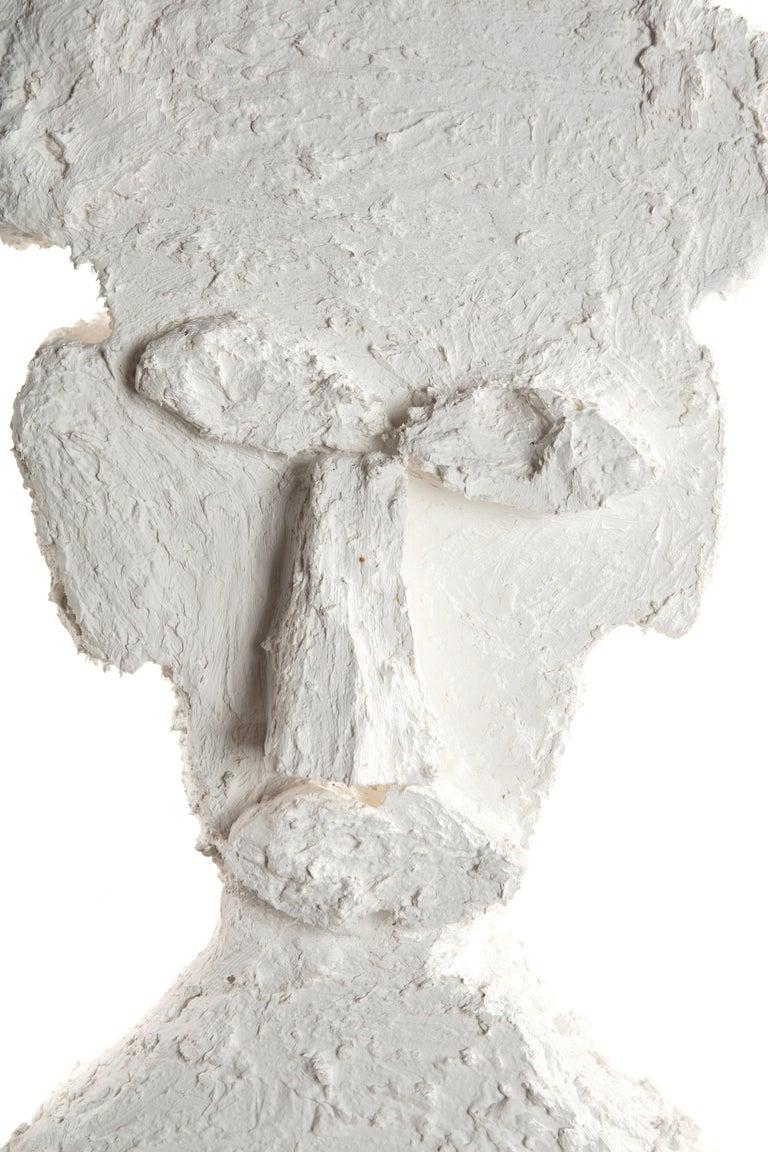 White Plaster Sculptural Figure, 21st Century by Mattia Biagi For Sale 3