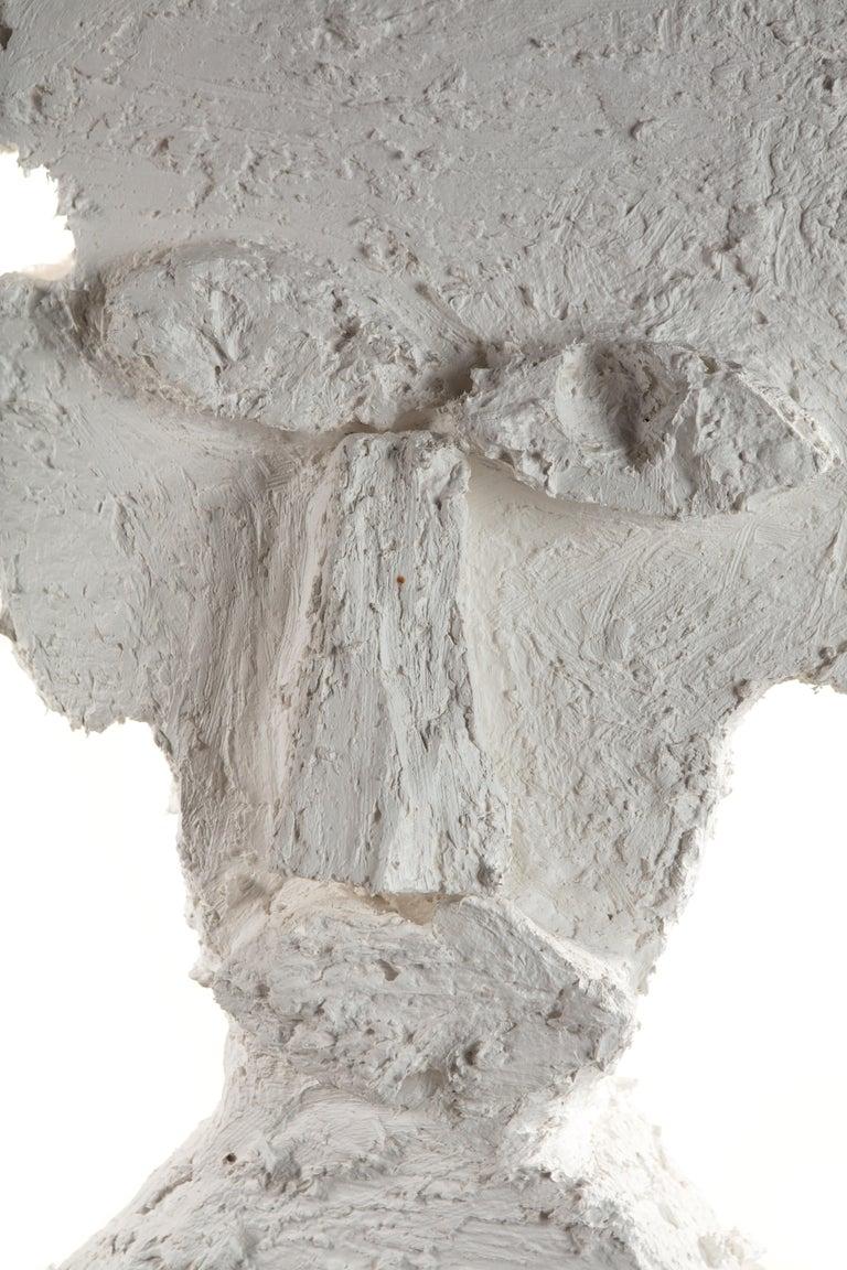 White Plaster Sculptural Figure, 21st Century by Mattia Biagi For Sale 4