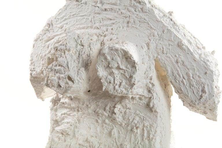 White Plaster Sculptural Figure, 21st Century by Mattia Biagi For Sale 5