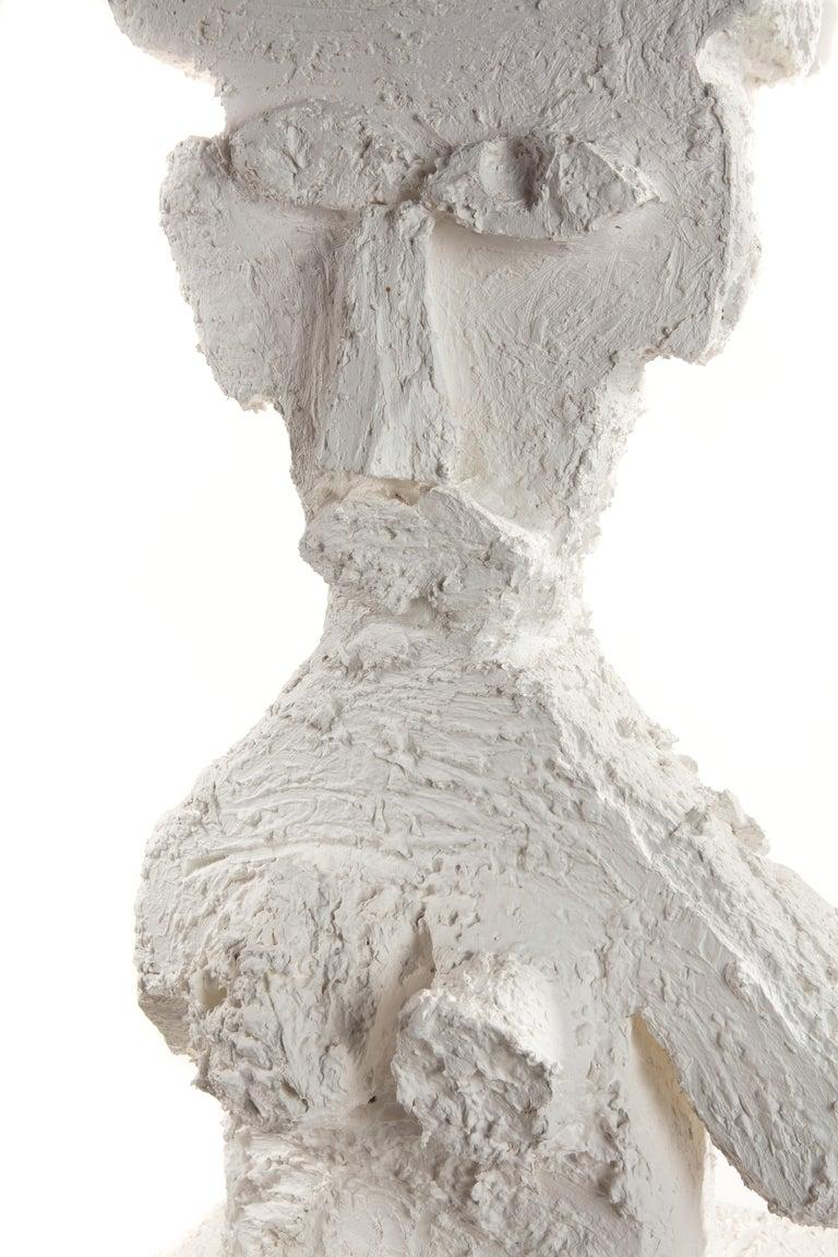 White Plaster Sculptural Figure, 21st Century by Mattia Biagi For Sale 6