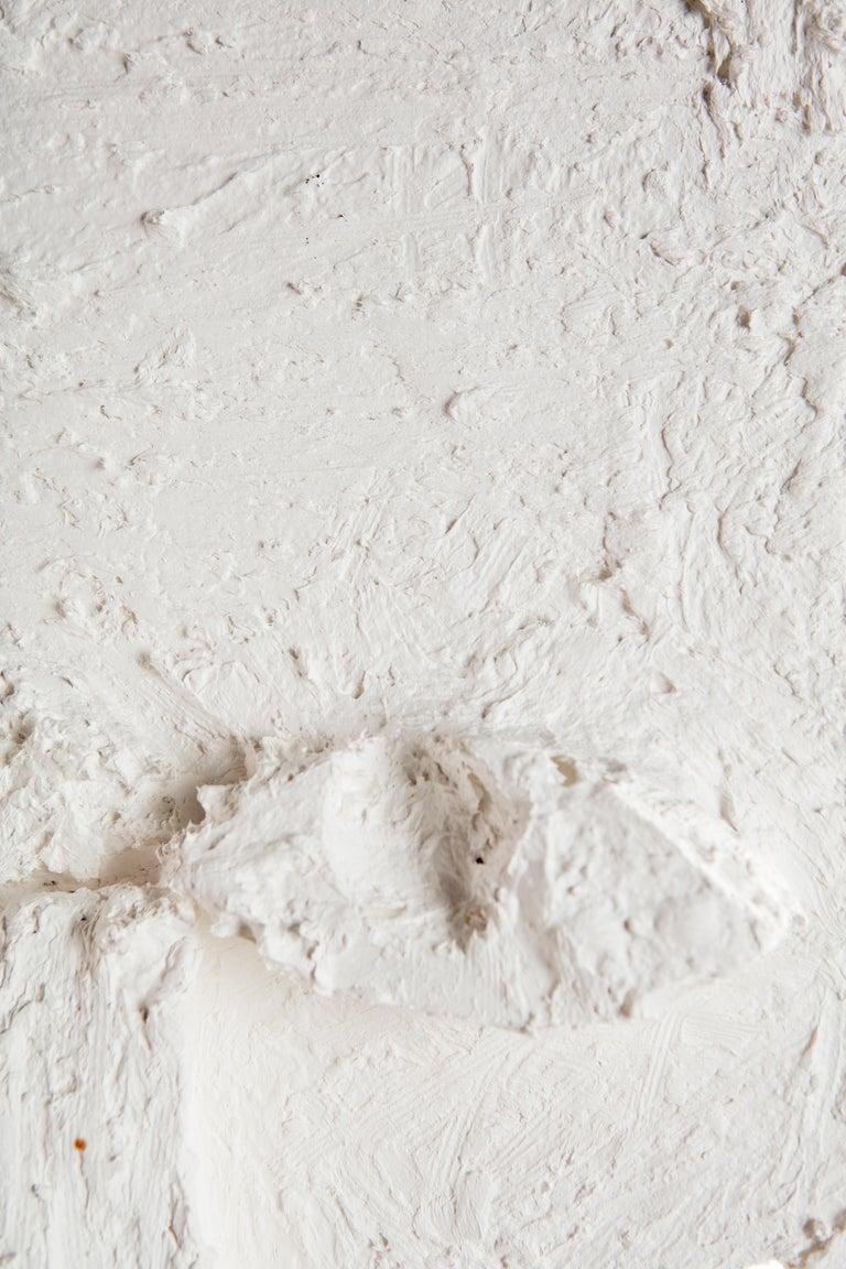 White Plaster Sculptural Figure, 21st Century by Mattia Biagi For Sale 7