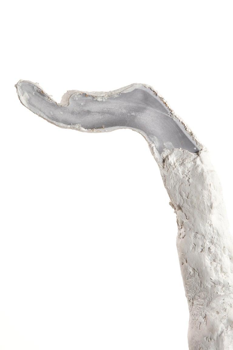American White Plaster Sculpture Figure, 21st Century by Mattia Biagi For Sale