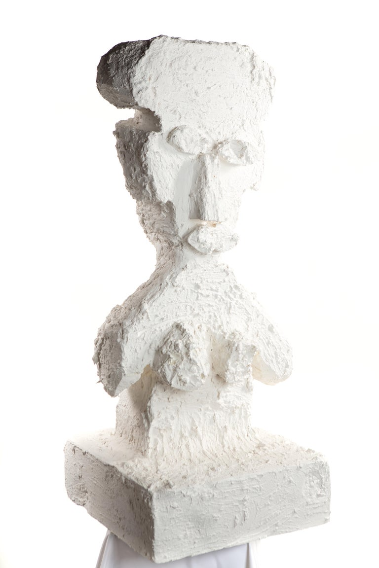 American White Plaster Sculptural Figure, 21st Century by Mattia Biagi For Sale