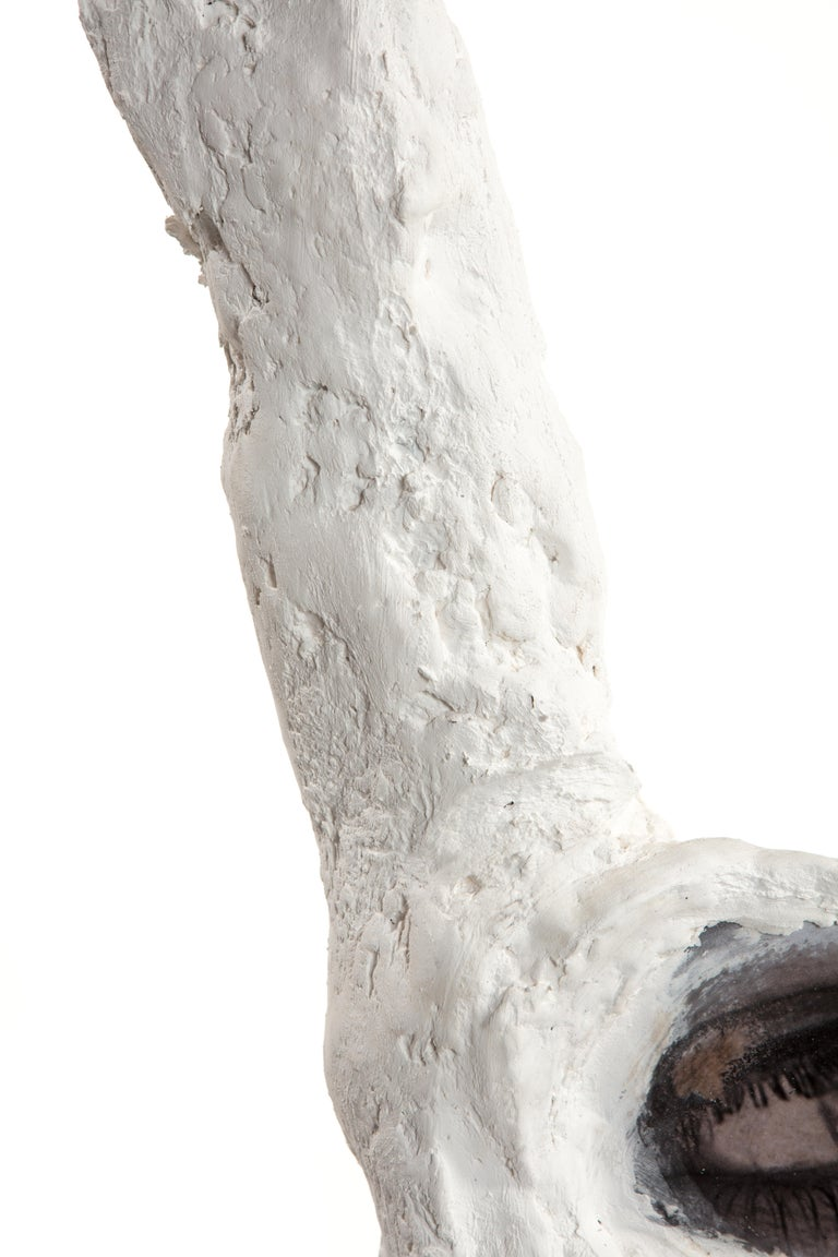 Hand-Crafted White Plaster Sculpture Figure, 21st Century by Mattia Biagi For Sale