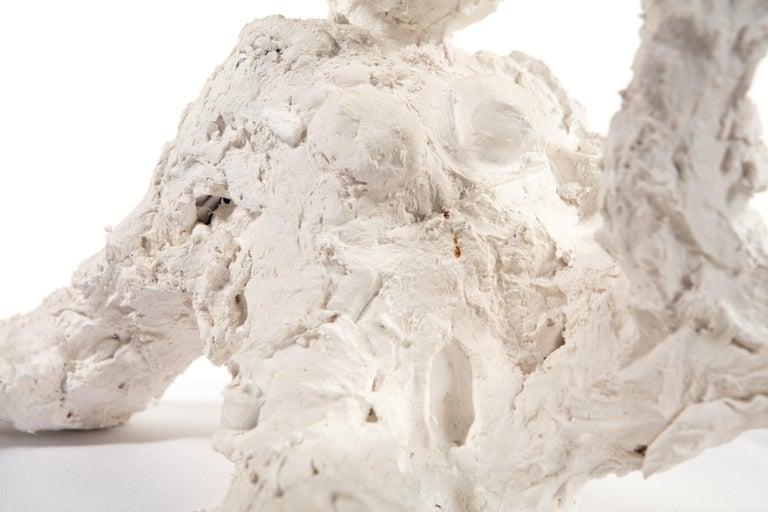 White Plaster Sculpture Woman Figure, 21st Century by Mattia Biagi In New Condition In Culver City, CA
