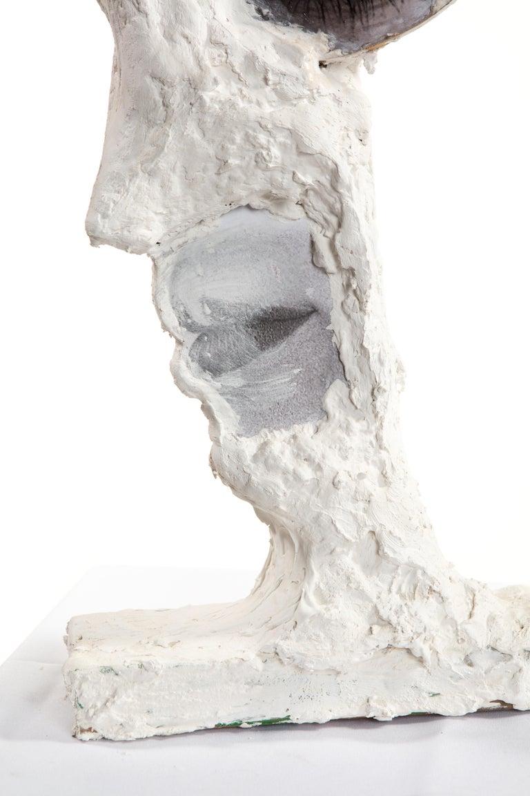 White Plaster Sculpture Figure, 21st Century by Mattia Biagi In New Condition For Sale In Culver City, CA
