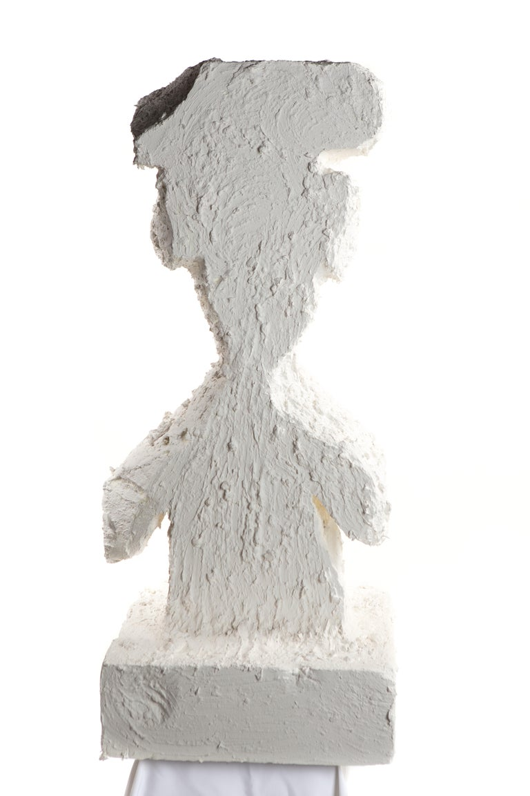 White Plaster Sculptural Figure, 21st Century by Mattia Biagi In New Condition For Sale In Culver City, CA