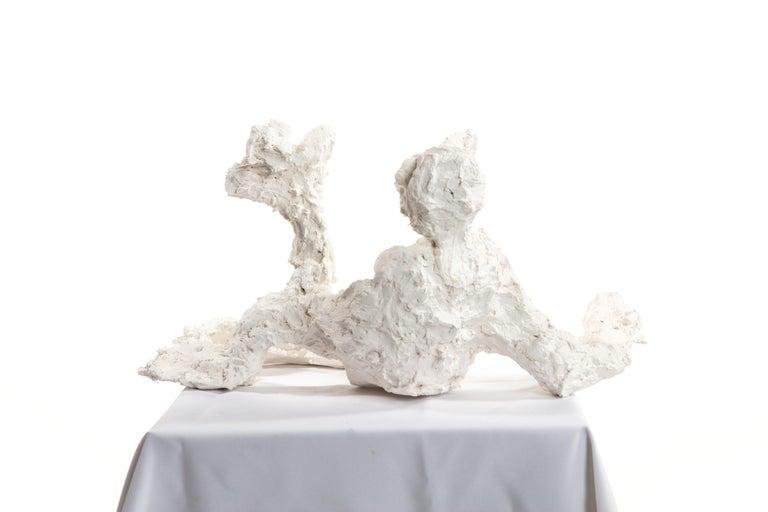 Contemporary White Plaster Sculpture Woman Figure, 21st Century by Mattia Biagi