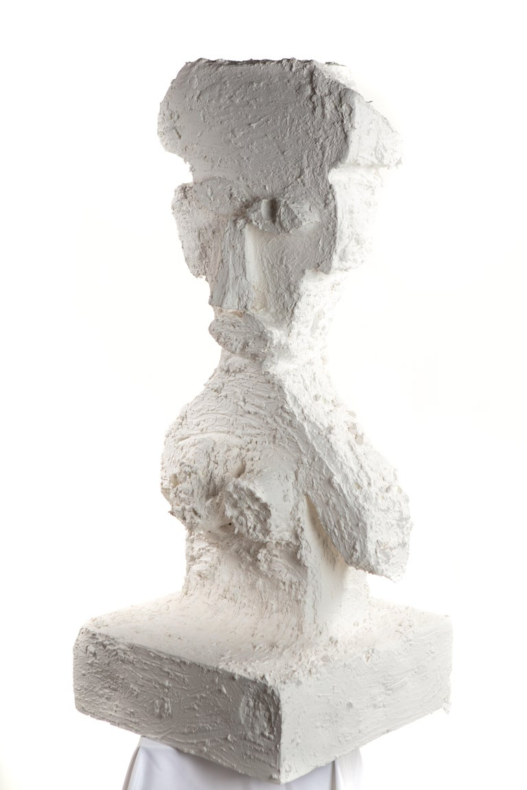 Contemporary White Plaster Sculptural Figure, 21st Century by Mattia Biagi For Sale