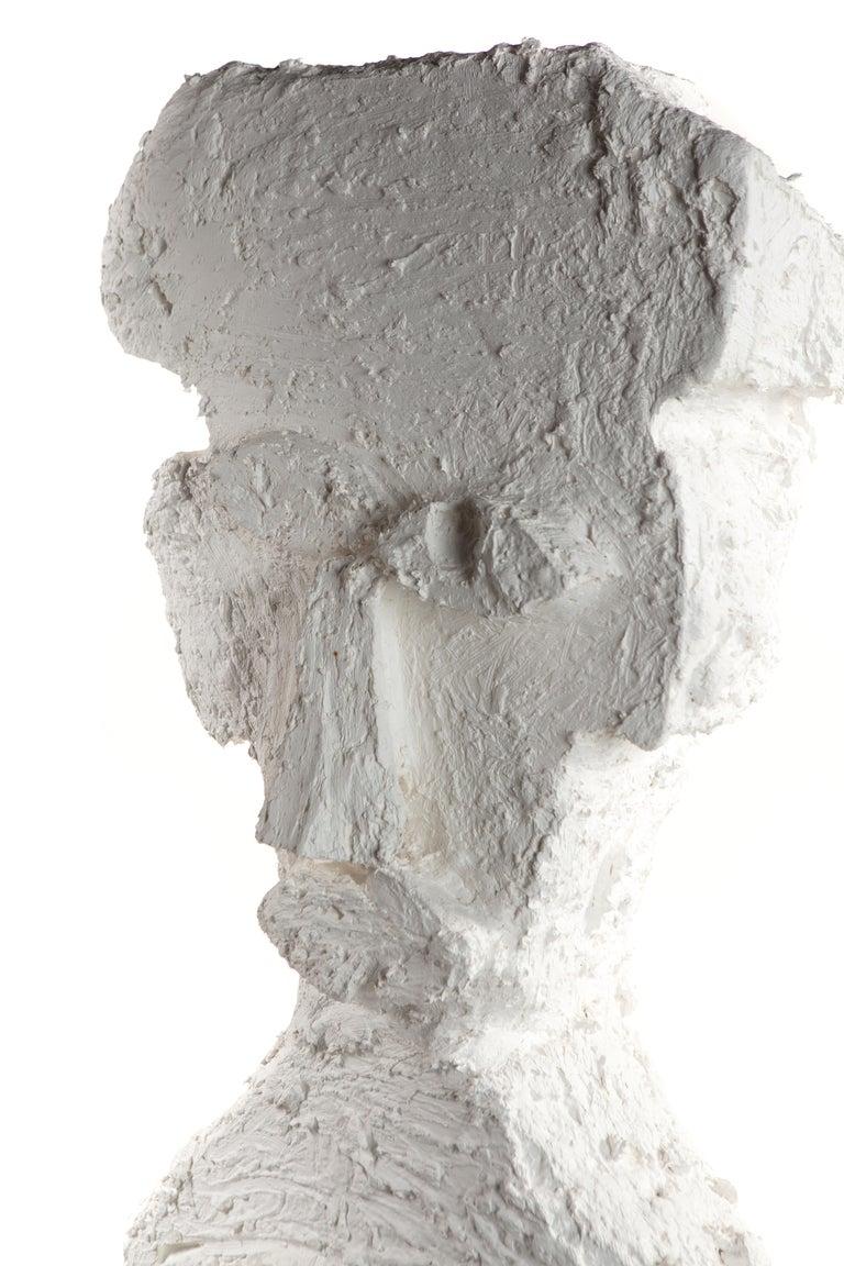 Paper White Plaster Sculptural Figure, 21st Century by Mattia Biagi For Sale